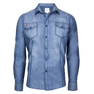 Lee Cooper Men's Michum Denim Shirt,(Manufacturer Size: )
