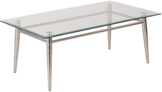 Osp Designs OSP Designs 16-in. Square Metal & Glass Coffee Table
