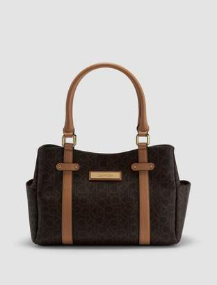 Calvin Klein monogram east/west satchel