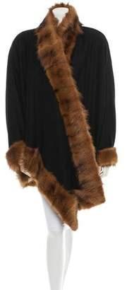 J. Mendel Oversize Fur-Trimmed Jacket