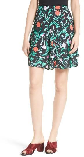 Women's Kate Spade New York Jardin Double Layer Skirt