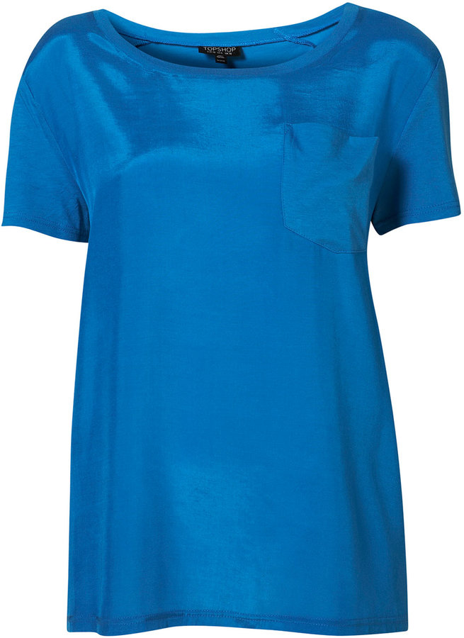 Topshop Woven Front Tee
