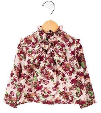 Lulaland Girls' Floral Print Button-Up Top w/ Tags
