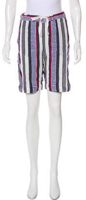 Lemlem Striped Knee-Length Shorts