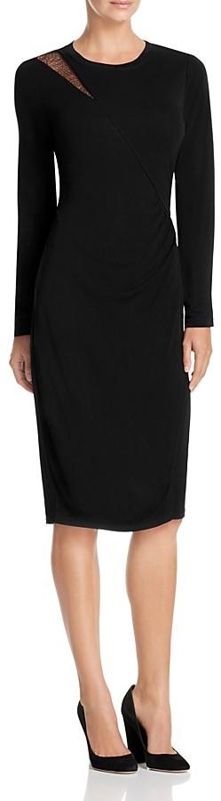 Elie Tahari Saniya Lace Shoulder Dress 2