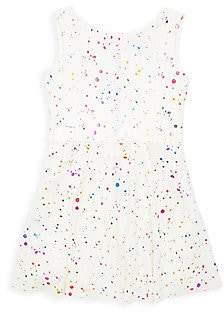 Zoe Zoe Girl's Rainbow Splatter A-Line Dress