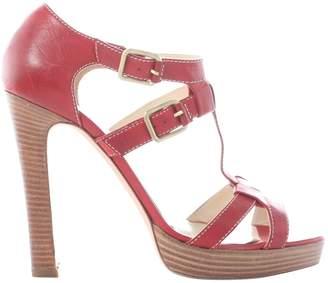 Rupert Sanderson Red Leather Sandals