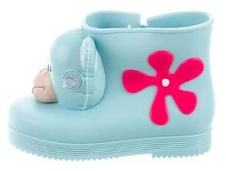 Mini Melissa x Jeremy Scott Girls' Monkey Boots w/ Tags