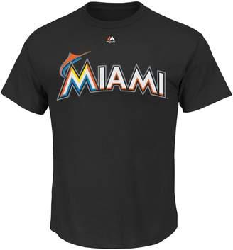 Majestic Men's Miami Marlins Official Wordmark Tee