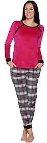 Cuddl Duds Ultra Plush Velvet Fleece NoveltyPajama Set