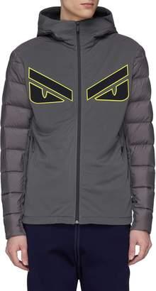 Fendi Sport 'Bag Bugs' appliqué hooded down puffer jacket