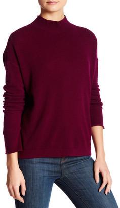 Inhabit Mock Neck Long Sleeve Back Slit Cashmere Sweater $391 thestylecure.com