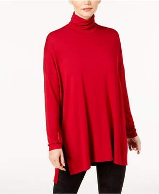 Eileen Fisher Stretch Jersey Turtleneck Tunic, Created for Macy's