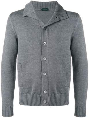 Zanone knitted button cardigan
