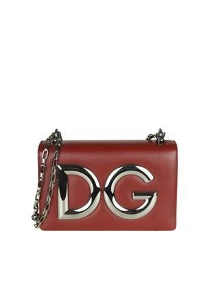 Dolce & Gabbana Shoulder Bag In Bordeaux Color