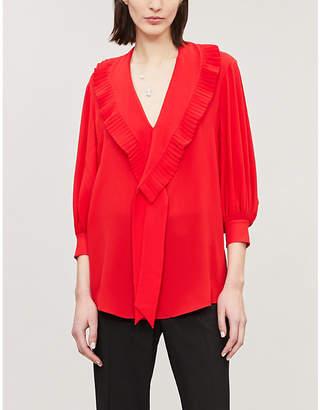 Alexander McQueen V-neck silk shirt