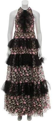 Giambattista Valli Embroidered Evening Dress w/ Tags