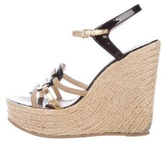 Saint Laurent Multistrap Espadrille Sandals
