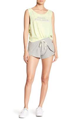 Peace Love World Gray Days Rose Comfy Shorts