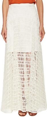 Milly Raffia Netting Maxi Skirt