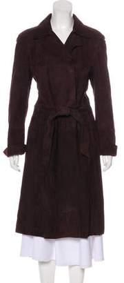 Akris Belted Suede Coat