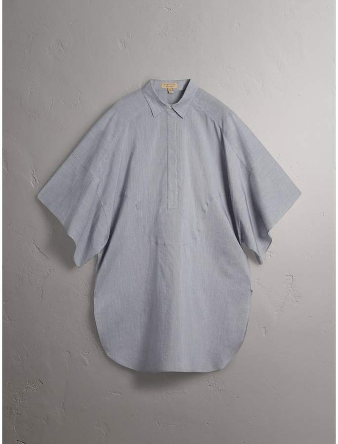 Burberry Collar Detail Cotton Silk Kaftan