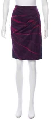 Max Mara Tie-Dye Knee-Length Skirt Violet Tie-Dye Knee-Length Skirt