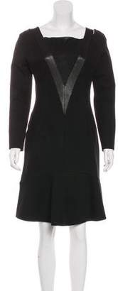 Emilio Pucci Long Sleeve Knee-Length Dress