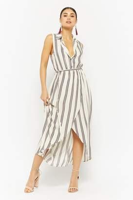 Forever 21 Striped Tulip-Hem Shirt Dress