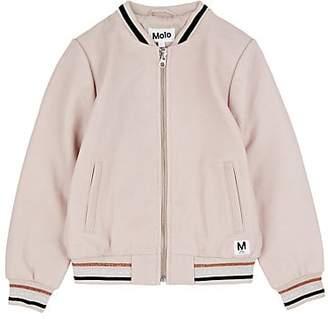 Molo Kids Kids' Haliva Leather Bomber Jacket - Pink