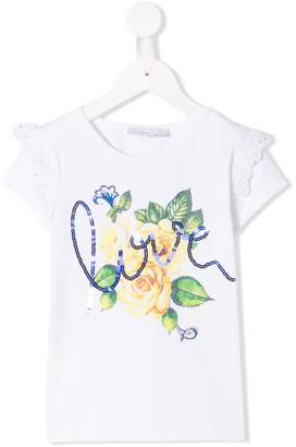 Patachou sequin embroidered T-shirt