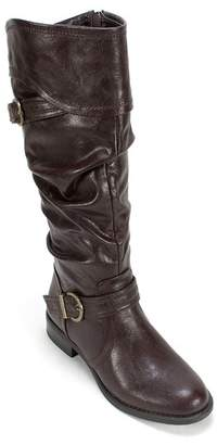 White Mountain Footwear Lariat Slouch Fit Faux Leather Boot