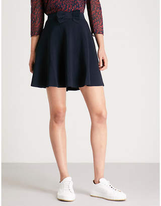 Claudie Pierlot Malia bow-detail crepe skirt