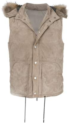 Eleventy hooded padded gilet