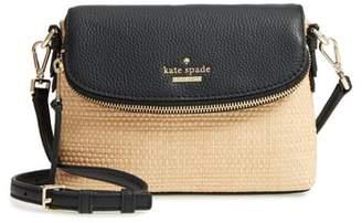 Kate Spade Jackson Street - Harlyn Straw & Leather Crossbody Bag