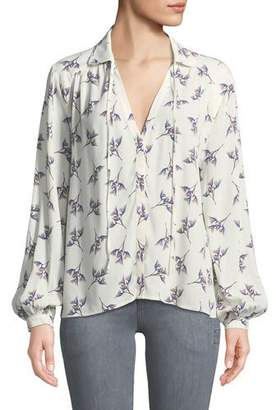 BA&SH Fausta Floral Button-Front Blouse