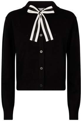 Claudie Pierlot Neck-Tie Ribbon Cardigan