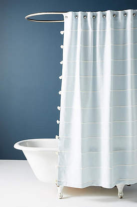 Anthropologie Tasseled Sela Shower Curtain