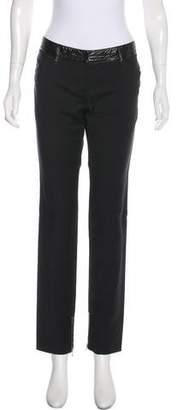 Dolce & Gabbana Paneled Mid-Rise Straight-Leg Pants