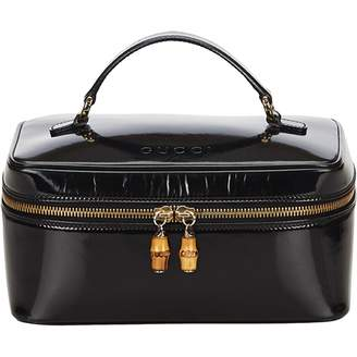 Gucci Bamboo leather vanity case