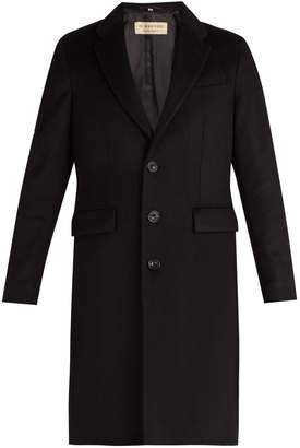 Burberry Single-breasted wool and cashmere blend overcoat