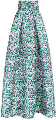 Monique Lhuillier Floral Ball Gown Skirt