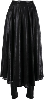 MSGM shiny leggings skirt