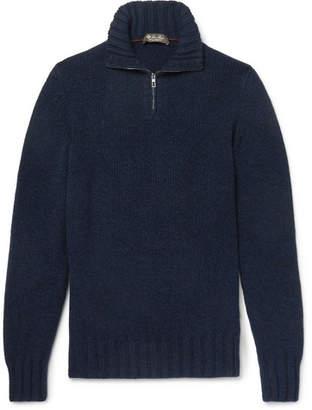Loro Piana Baby Cashmere Half-Zip Sweater - Men - Navy