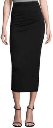 Three Dots Women's Shirred Midi Skirt
