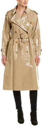 Burberry Laminated Gabardine Trench Coat
