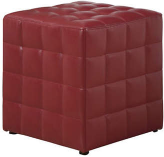 Monarch Leather-Look Quilted Ottoman