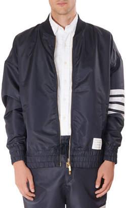 Thom Browne Men's Oversized Ripstop Bomber Jacket