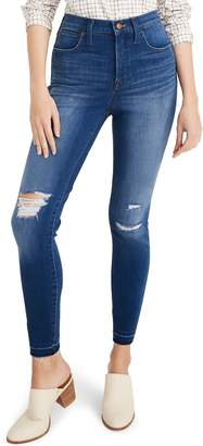 Madewell Ripped 10-Inch High Waist Crop Skinny Jeans