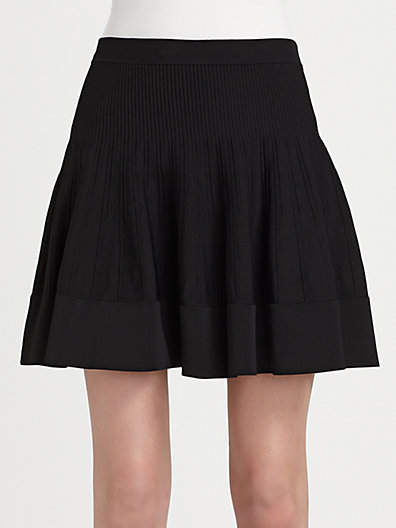 A.L.C. Marc Flared Ribbed Knit Skirt